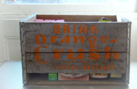 wood soda crate