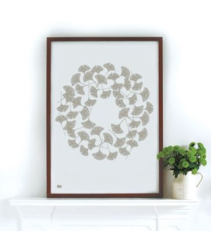 Gingko leaves print
