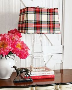 Plaid lampshade