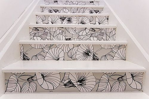 wallpaper stair risers