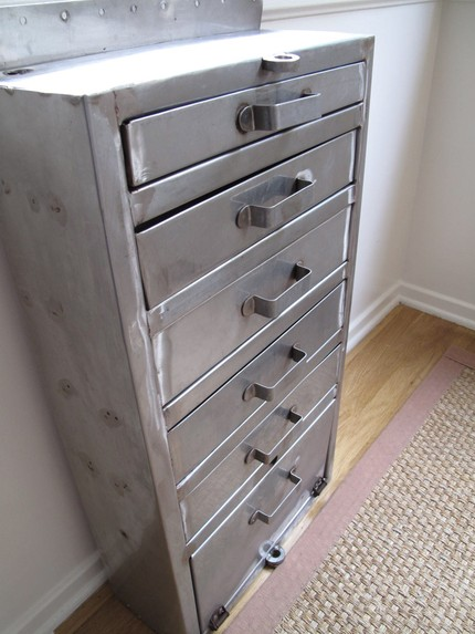 vintage stainless steel drawers