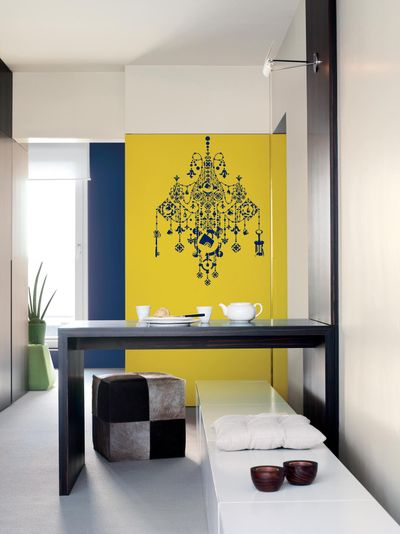 10 Smart Colorful Wall Paintings:Stencils