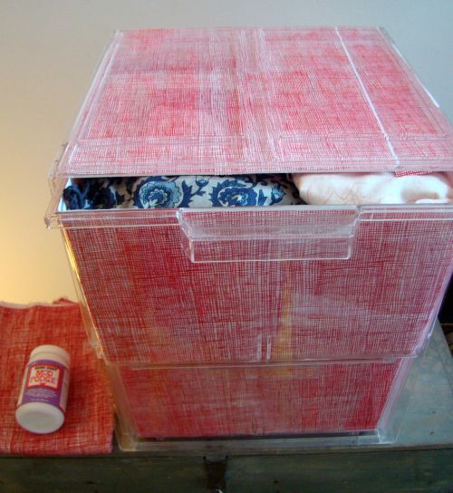 Mod Podge drawers