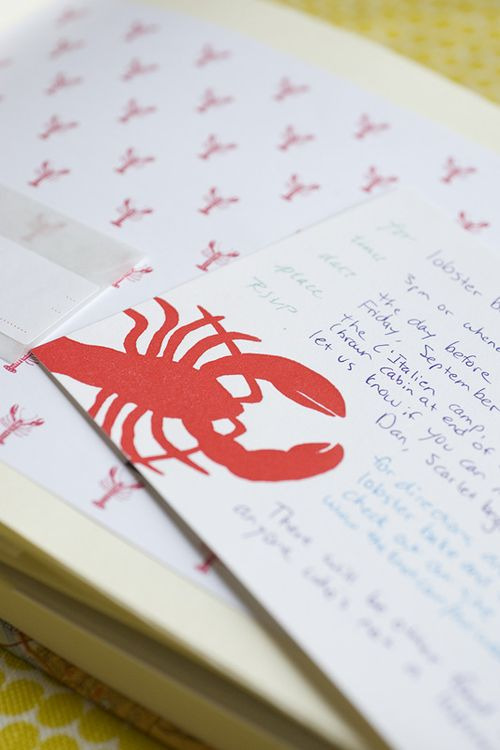 Lobster bake invites