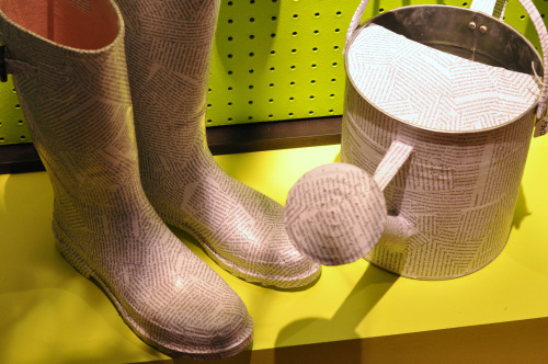 Paper wellies