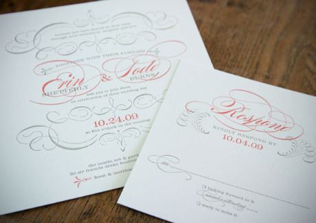 yet clean and simple wedding invitation not to mention those beautiful