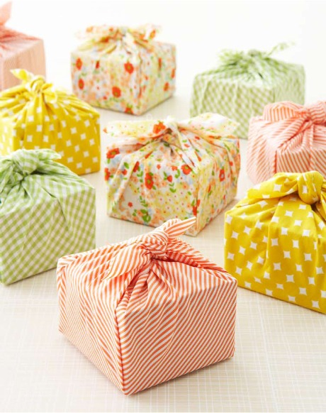 Handmade Weddings fabric wrapped favors